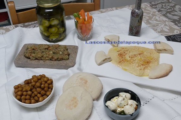 Aperitivos o Mezze de la gastronomía Jordana